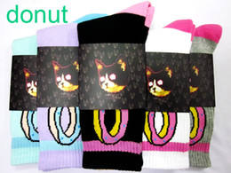 Wholesale Retail Colors USA Cotton OF Odd Future donut Cat Stripe Thicken Plantlife Skateboarding pilot Sport Socks