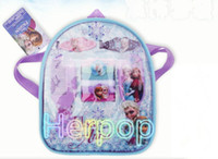 accessories backpack - Hot Sale set backpack Cartoon Frozen girl Party Dress comb hairpin Hair Accessories