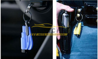 Wholesale 3 In Car Escape Rescue Tool Keychain Glass Breaker Seatbelt Cutter Hammer Good Quality