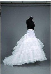 Wholesale Noble White Layer Train Wedding Dress Petticoat Fishtail Bridal Underskirt Slip Crinoline Underdress Accessory