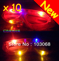 flashing light up glasses - OP Hot New Multi Colored LED Light Up Flashing Rave Party Glasses For Dances Party Supplies Decoration