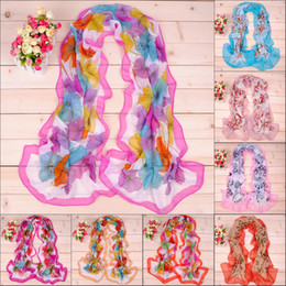 Wholesale Women scarves personality ginkgo biloba printed chiffon scarf
