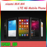 Wholesale xiaomi Mi4 M4 LTE G Mobile Phone G RAM G ROM Snapdragon S801 Quad Core GHZ Inch IPS P OTG GPS Single Micro Sim WEIL