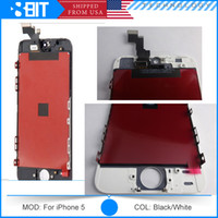 Wholesale AAA Quality For iPhone s c LCD Display Touch Screen Digitizer full Assembly Cell Phone Parts Black White Free DHL