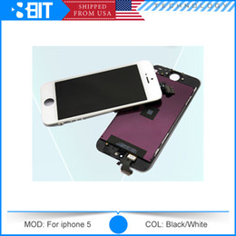 Wholesale LT LCD Screen Display For iPhone G LCD Display Touch Screen Digitizer full Assembly With Ear Mesh Free DHL Shipping