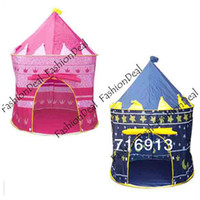Cheap 2013 New Lovely Baby Children Portable Indoor&Outdoor Kids Tent house hut Play Toy Two Color Free Shipping7378