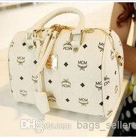 Wholesale New arrival Brand Designer Boston Bag PU Leather High Quality Yellow Light Blue Off White New Arrival Free Drop Shipping B6