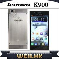 Cheap Original Lenovo K900 1920x1080 pixels ROM 16GB RAM 2GB Intel Atom Z2580 Dual Core 13.0MP Camera 5.5inch IPS Android4.2 Play Store Cell Phone
