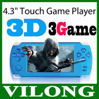 Wholesale New ultrathin quot Touch Screen D Game Player GB HDMI Output Handheld Game Player PMP Free Games