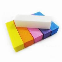 Wholesale Brand New Sponge Sandpaper Buffer Block Buffing Sanding Filing Nail Art Tools ZVW