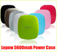 Wholesale High Quality mah Lepow Stone Moonstone Mobile Power Bank External Battery Charger For iPhone S S Samsung S5 Note HTC with package