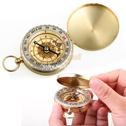 Wholesale OP High Quality New Delicate Brass Pocket Watch Style Outdoor Camping Compass