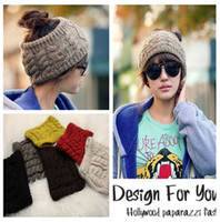 Wholesale Womens cable knit Knitting Wool Winter Warm Knit Wide Hair Band Headband Hat