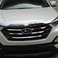 Wholesale 2013 Hyundai Santa Fe ix45 ABS Chrome Front Grille Around Trim Racing Grills Trim car trim