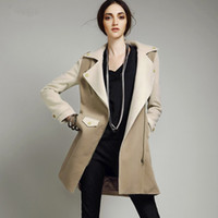 2014 winter new Women Wool & Blends Trench Coats Street Styl...