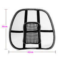 Cheap Car Seat Support Office Chair Massage Back Lumbar Support Mesh Ventilate Cushion Pad Black free shipping wholesale