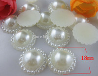 Cheap 100pcs pearl button in wedding decoration wholesale buttons garment crafts botoes scrapbook accessory embellishment hair bow