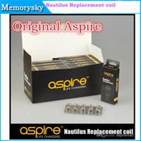 Wholesale 100 Original Aspire Dual Coil Aspire Nautilus Coil Heads For Aspire Nautilus Atomizer for Electronic Cigarette ohm and ohm