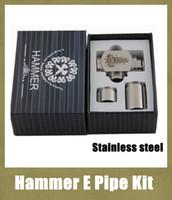 Electronic Cigarette Set Series 18350/18500/18650 battery Hammer Pipe Mod Kit E Cigarette E Pipe Mod Mechanical Hammer Battery Body For 510 Thread Atomizer Electronic Cigarette TZ026