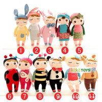 Wholesale cm Lovely Stuffed Cloth Doll Plush Toy Metoo Rabbit Doll Angela Christmas Girl Birthday Gift with gift retail box