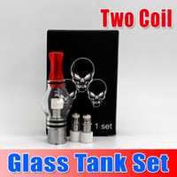 Hot Sale !!! Two Coil Head Glass Tank Atomizer Set Bulb Vapo...