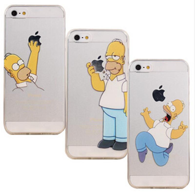 Sale Hard Transparent Homer Simpson Hand Grasp Logo Cell Phone Cases ...