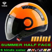 al por mayor l tamaño de casco yohe-2014 nueva llegada cascos YOHE MINI Verano mitad de la cara de la motocicleta casco de la moto bicicleta eléctrica casco campo a través del casco del ABS Tamaño M L XL XXL