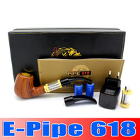 Wholesale Brand new E pipe Health Smoking Pipe Electronic Cigarette E Pipe Imitate Solid Wood Design With Best Top grade Package Set waitingyou