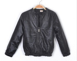 Wholesale In The Autumn Of Children Jacket Coat Thin Type Of Locomotive Furs Of The Girl Leather Jackets Coat Kids Coats Outwear Clothes GX930