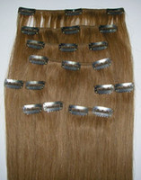 Wholesale Brazilian Clip in hair extensions Brazilian hair Ombre color straight shipping by DHL