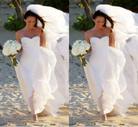 Cheap DN Hot New Megan Fox Gorgeous Sweetheart Empire Chiffon Wedding Dress Simple Beach Bridal Gowns For Maternity Women Fall Bridal Gowns