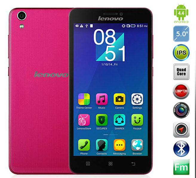 Buy Original Lenovo S850 Quad Core MTK6582 Smartphone Android 4.4 1.3GHz 5.0Inch IPS Screen Front 5.0MP Real 13.0MP Camera 16G ROM WCDMA A+++