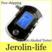 Wholesale AT6000 Alcohol Tester Dollarine Digital LCD Alcohol Breath Analyzer Tester w Audio