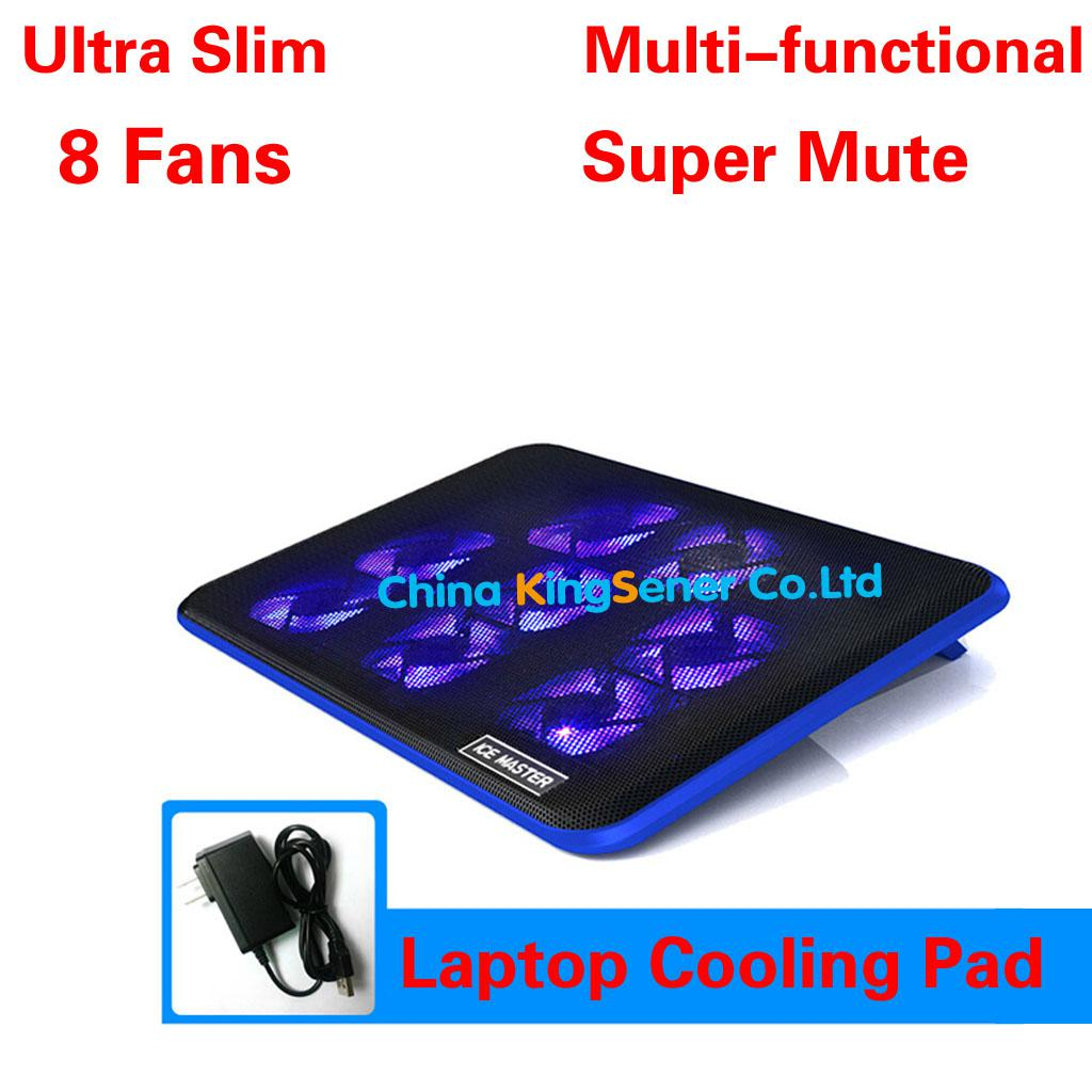 2017 ultra slim 8 fans laptop cooler laptop cooling pad. Black Bedroom Furniture Sets. Home Design Ideas