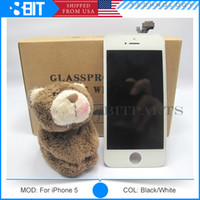 Wholesale Free DHL Copy LCD Display Touch Screen Digitizer full Assembly Tianma LT LCD For iPhone LCD Replacement Parts
