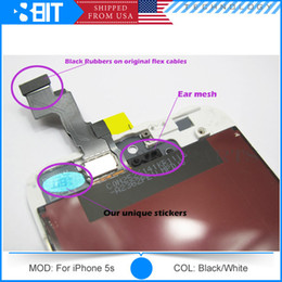 Wholesale 100 Test Original Quality LT LCD Display Screen with Digitizer Assembly for iPhone c s Touch Screen Black White