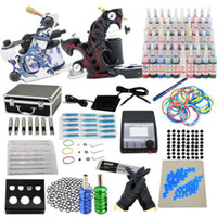 starter beginner - Prrofessional Complete Starter Tattoo kit machines guns inks power supply Beginner Set Tattoos Body Art Tattoo Guns Kits v v