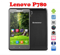 Original Lenovo P780 Quad Core MTK6589 android 1.2 GHz Smartphone con 1GB de RAM 5.0#039;#039; la Pantalla de la Cámara 13MP 3G WiFi GPS Teléfono celular DHL Barco Gratuito