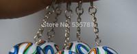 Wholesale 5pcs D Brazuca keyring World Cup Brizilian Replica soccer ball keychain fans souvenir gift office decoration KC009