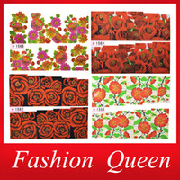 Wholesale OP Newest Flowers Water Decals sheets Rose Design Transfer Nail Full Cover Wraps DIY Beauty Nail Sticker Decoration Tools
