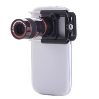 Cheap 8x Zoom Optical Lens Mobile Phone Telescope Camera For iPhone Sumsung HTC New Universal Clip Eightfold Magnifier with Holder Newest