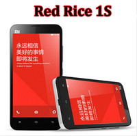 Wholesale Original Quality Xiaomi Red Rice S WCDMA Redmi Hongmi S Phone Qualcomm MSM8228 Quad Core GHz Android G Mobile Phone With Case DHL Free