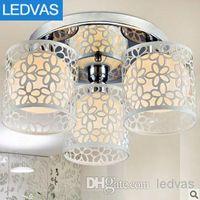 Wholesale LEDVAS Modern Crystal Chandelier Light Fixture Crystal lamps Ceiling Lamp Luster chandeliers LD