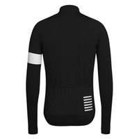 Wholesale Rapha Long Sleeve Cycling Jerseys Black Durable Perspiration Breathable Cycling Clothing Men Cycling Jerseys