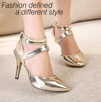 Wholesale Summer designer stiletto heels glitter Heel wedges dress shoes high heel shoes bfe013