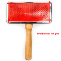 Wholesale Lefdy new With wooden handle gill Small Air cushion brush comb for pet cat
