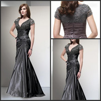 sexy mother - 2014 New Style V neck Mother Of Groom Dresses Short Lace Sleeve Sexy Mermaid Mother Of Bride Gown