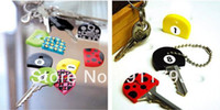 key caps - High quality cute PVC Key Caps Covers Keys Set Easy Colourful Colorful set protector Identifier Keychain Case Shell pc set
