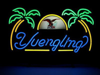 Wholesale NEW YUENGLING BEER REAL GLASS NEON LIGHT BAR PUB SIGN