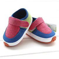 Cheap 2014 New Autumn Infant Baby Girls Boys Magic Tape Prewalker Patched Color Sport Shoes Toddler Boys Girls Casaul Soft Shoes 3pair lot M0926